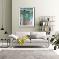 painting in living room