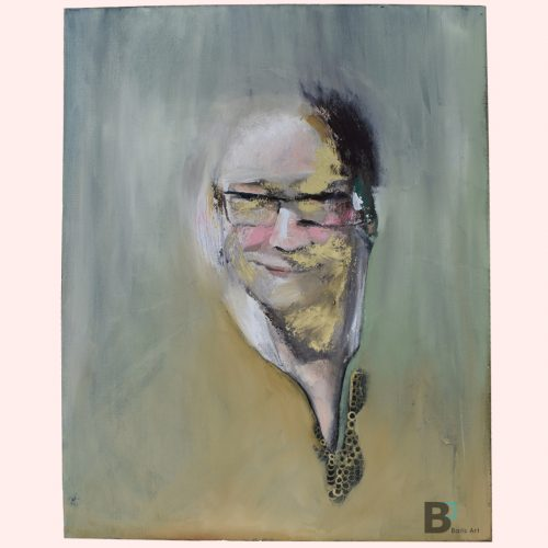 Abstract Oil painting, portrait